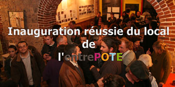 Inauguration du local de l'entrePOTE